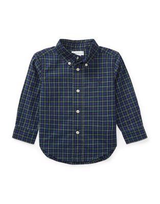 Baby Boys Plaid Cotton Poplin Shirt