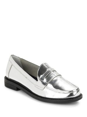 Pinch Campus Metallic Leather Penny Loafers by Cole Haan