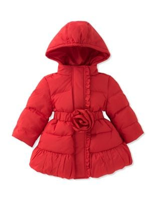 Baby Girls Quilted Down Hooded Puffer Coat