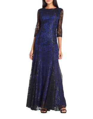 Lace Floor-Length Gown by Tahari Arthur S. Levine