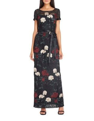 Floral Lace Embroidered Gown by Tahari Arthur S. Levine