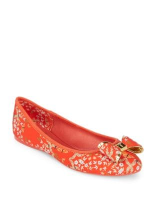 Immep Floral Textile Ballet Flats by Ted Baker London