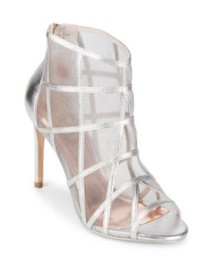 Crystal Leather Peep Toe Booties by Ted Baker London