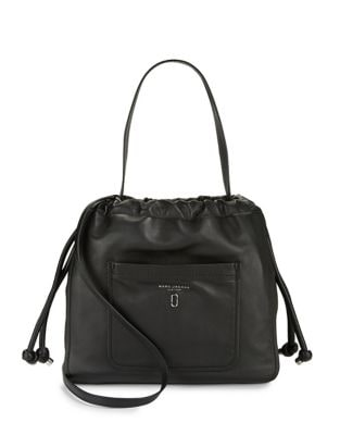 Leather Tie-Up Hobo Bag...