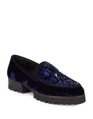 Elen Velvet Loafers by Donald J Pliner