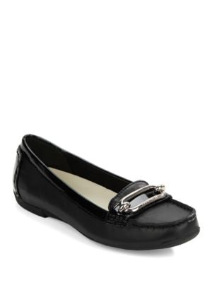Noris Leather Loafers by Anne Klein
