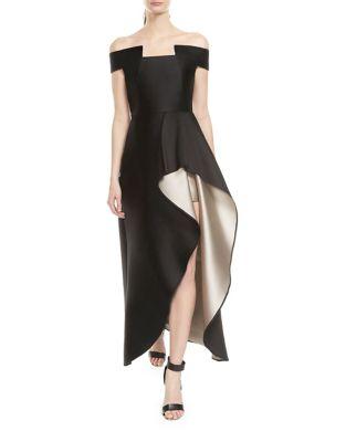 Floor-Length Hi-Lo Gown by Halston Heritage