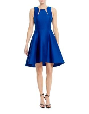 Roundneck Fit-&-Flare Dress by Halston Heritage