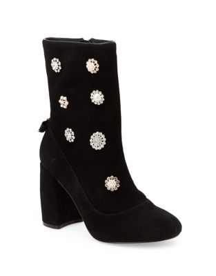 Linette Embellished Suede Booties by Nanette By Nanette Lepore