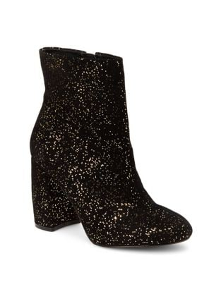 Lilly Sparkle Suede Booties by Nanette By Nanette Lepore