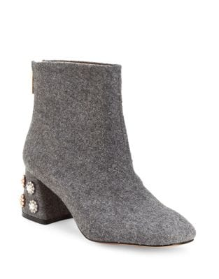 Rose Boucle Fabric Booties by Nanette By Nanette Lepore