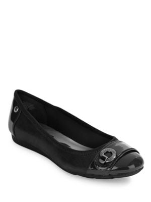 Azi Leather Flats by Anne Klein