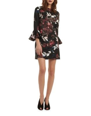 Floral Smooth Woven Shift Dress by Trina Turk