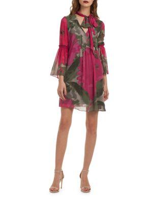 Floral Chiffon Shift Dress by Trina Turk