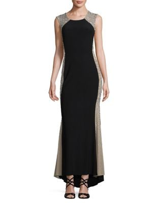 Petite Hi-Lo Hem Long Gown by Xscape