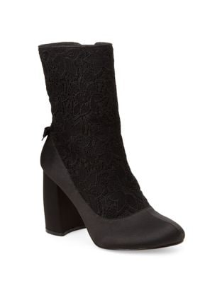 Linette Satin Lace Booties by Nanette By Nanette Lepore