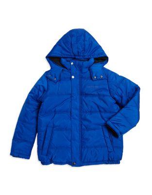 Boys Mockneck Puffer Coat