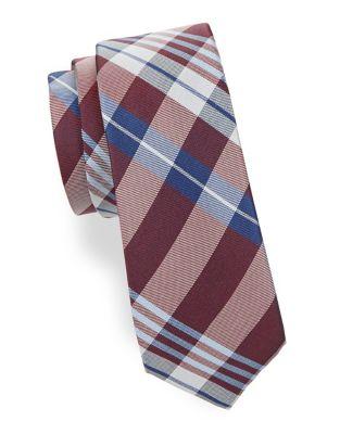 Boys Plaid Silk Tie