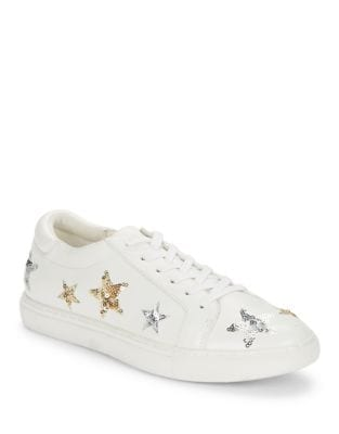 Leather Sequin Star Sneakers by Kenneth Cole New York