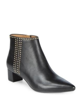Graziana Leather Booties by Calvin Klein