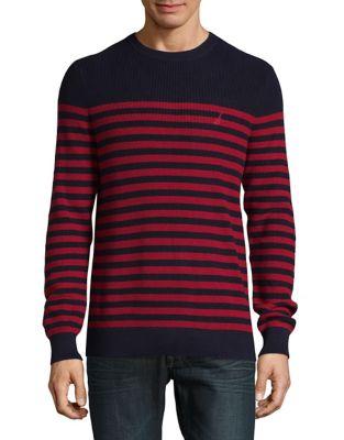 Cotton Striped Sweater...