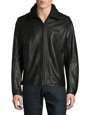 Solid Leather Jacket...