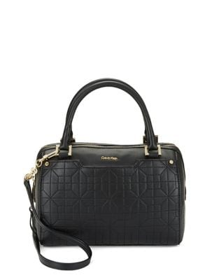 Quilted Leather Satchel...