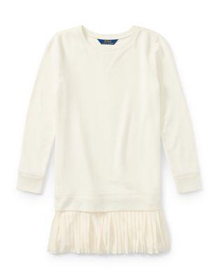 Girls PleatedHem Sweatshirt Dress