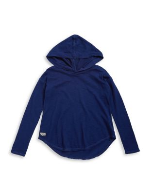 Girls Cotton Hooded Pullover