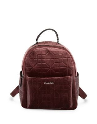 Quilted Velvet Backpack...