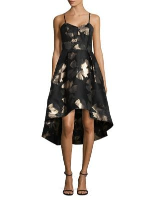 Photo of Metallic Jacquard Hi-Lo Tank Dress by Shoshanna - shop Shoshanna dresses sales