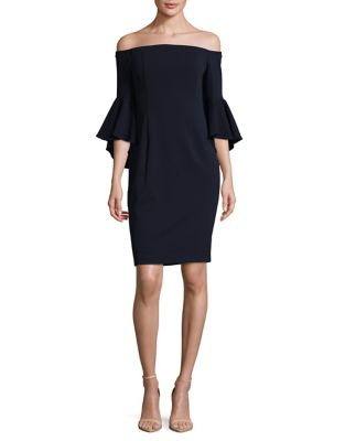 Off-the-Shoulder Sheath Dress by Calvin Klein