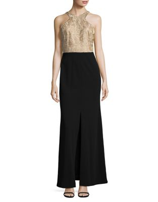 Lace Column Gown by Calvin Klein