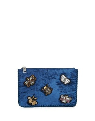 Embellished Velvet Clutch...