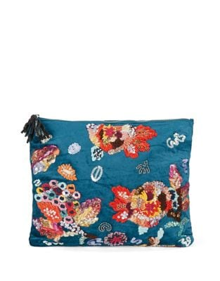 Embroidered Clutch @...