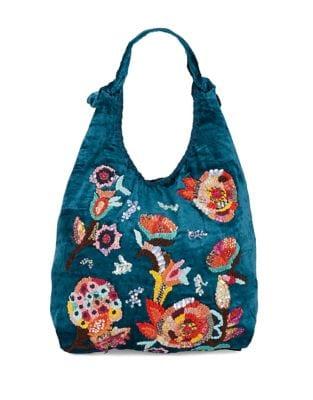 Embroidered Hobo Bag...