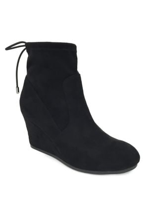 Sloan Faux Stretch Suede Booties by Lexi and Abbie