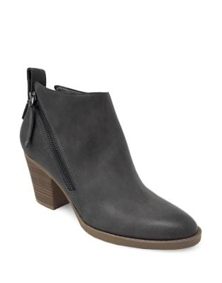 Clara Double Zip Faux Leather Booties by Lexi and Abbie