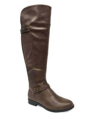 Emerson Faux Leather Over-the-Knee Boots by Lexi and Abbie