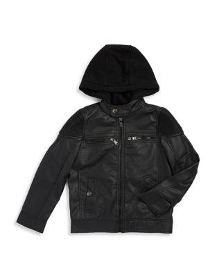 Boy's Faux Leather Jacket...