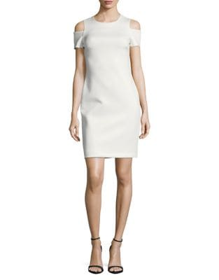 Petite Cold-Shoulder Sheath Dress by Calvin Klein