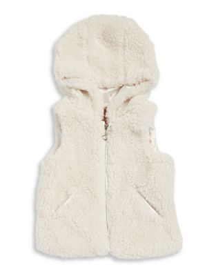 Little Girls Plush Faux Fur Vest