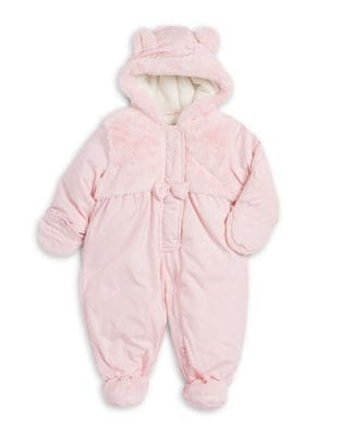 Baby Girls Faux FurTrimmed Snowsuit