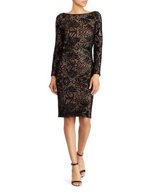 Sequined Sheath Dress by Lauren Ralph Lauren