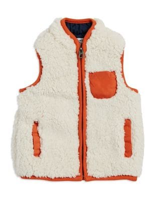 Baby's V-Neck Faux Shearling...