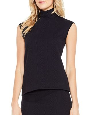 Cable Turtleneck Tank Top 500087510361