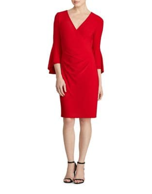 Petite Pull-On Bell-Sleeve Jersey Dress by Lauren Ralph Lauren
