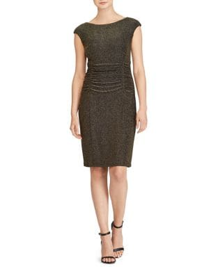 Petite Metallic Cutout-Back Dress by Lauren Ralph Lauren
