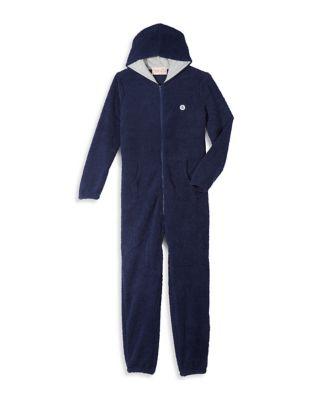 Fleece Hooded Jumpsuit...