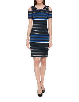 Cold-Shoulder Ponte Sheath Dress by Tommy Hilfiger